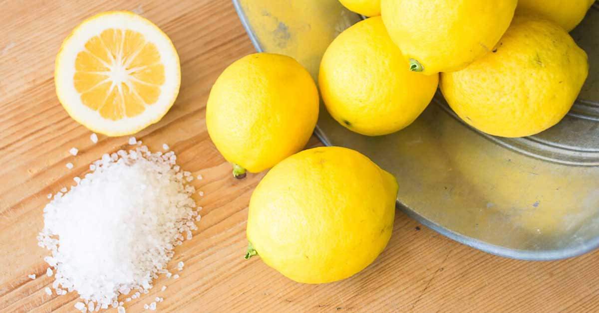 Cut lemon into thin slice